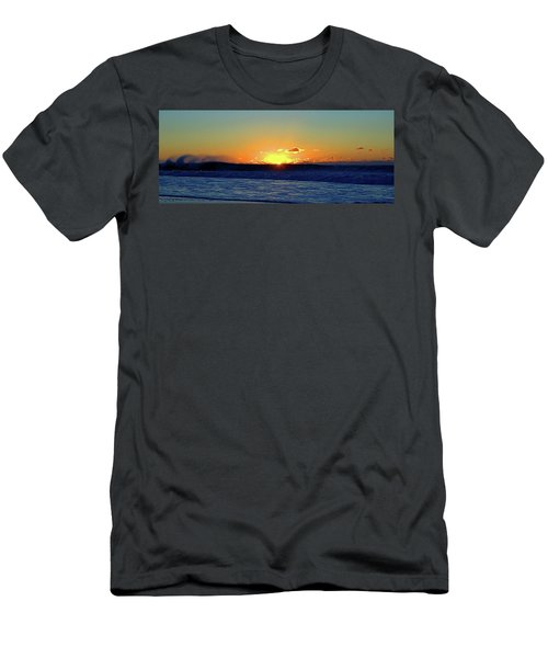 Sunrise Wave I I I Men's T-Shirt (Athletic Fit)