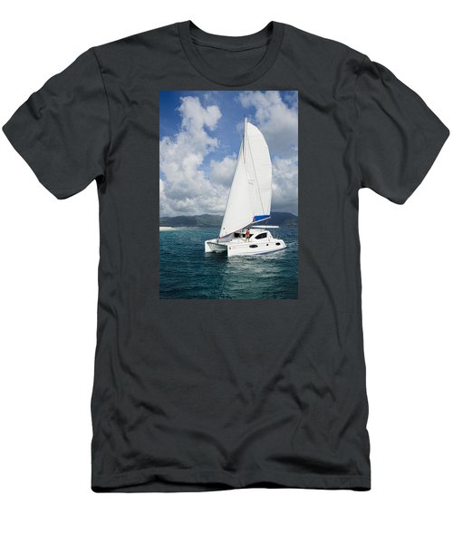 Sunsail Catamaran Men's T-Shirt (Athletic Fit)