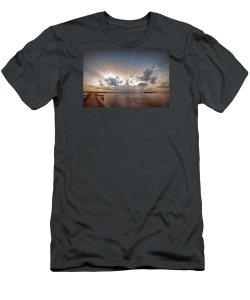 Sunset Aftermath Men's T-Shirt (Slim Fit) by Phil Mancuso