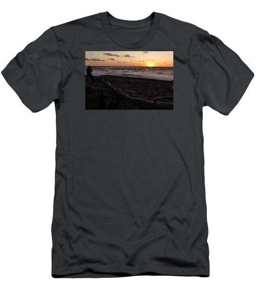 Sunset At Cap Rouge Men's T-Shirt (Slim Fit)