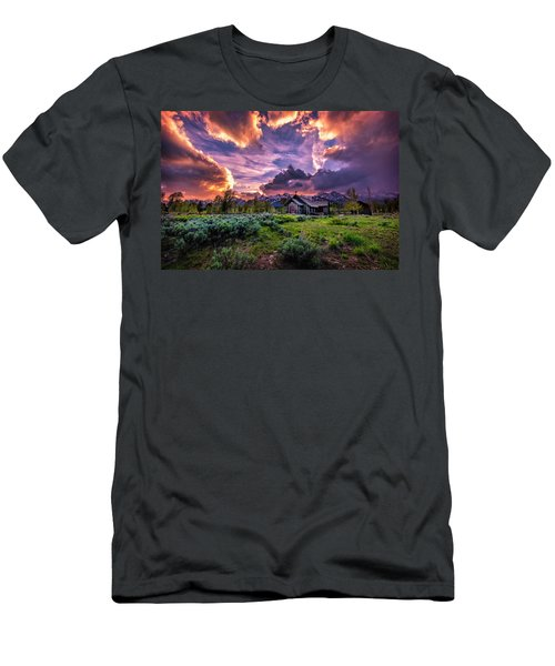 Sunset At Chapel Of Tranquility Men's T-Shirt (Athletic Fit)