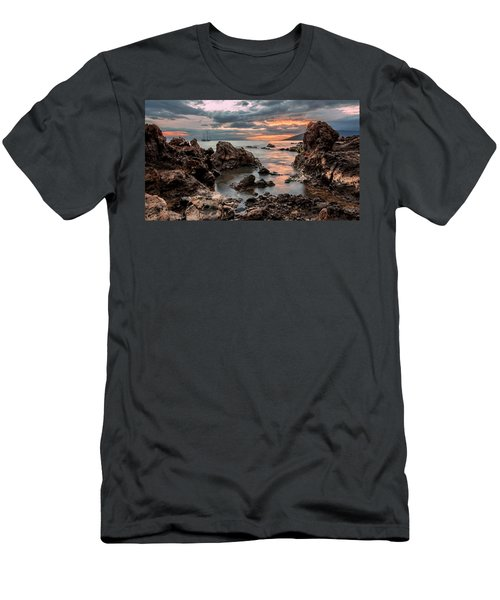 Sunset At Charley Young Beach Men's T-Shirt (Athletic Fit)