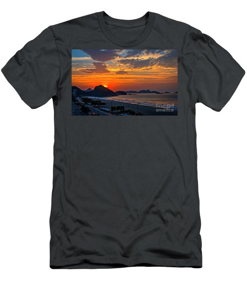 Sunset At Copacabana Men's T-Shirt (Athletic Fit)