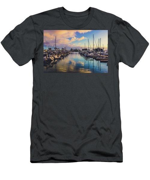 Sunset At Dana Point Harbor Men's T-Shirt (Athletic Fit)
