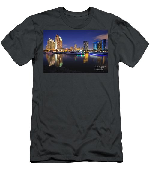Sunset At Embarcadero Marina Park In San Diego Men's T-Shirt (Athletic Fit)