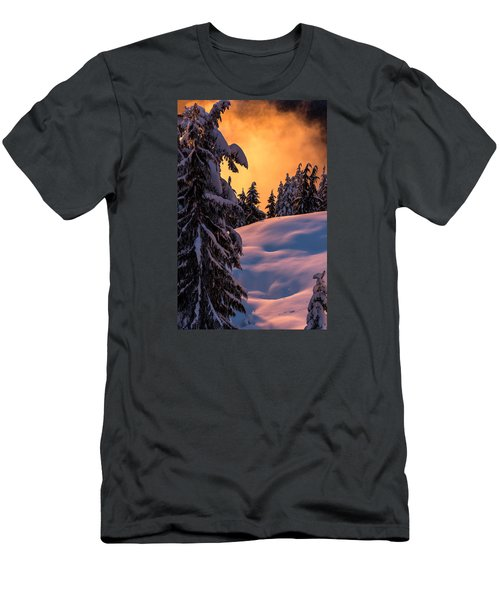 Sunset At Grouse Mountain Men's T-Shirt (Slim Fit) by Sabine Edrissi