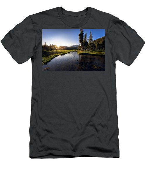 Sunset At Kings Creek In Lassen Volcanic National Men's T-Shirt (Athletic Fit)