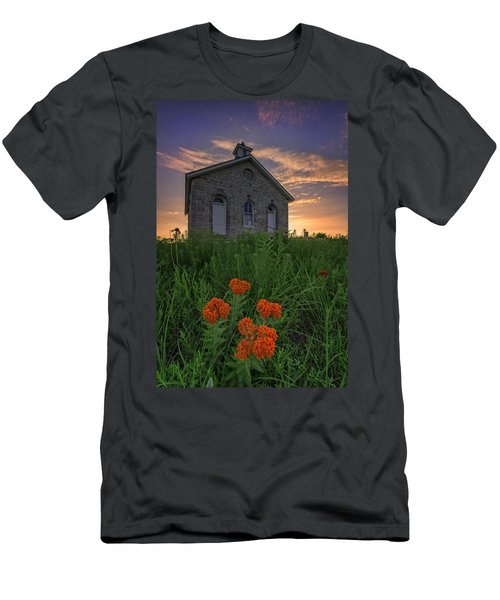 Sunset At Lower Fox Creek Schoolhouse Men's T-Shirt (Athletic Fit)