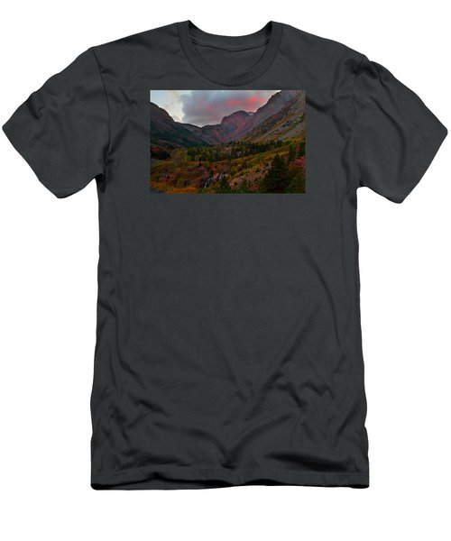 Sunset At Lundy Canyon During Autumn In The Eastern Sierras Men's T-Shirt (Athletic Fit)