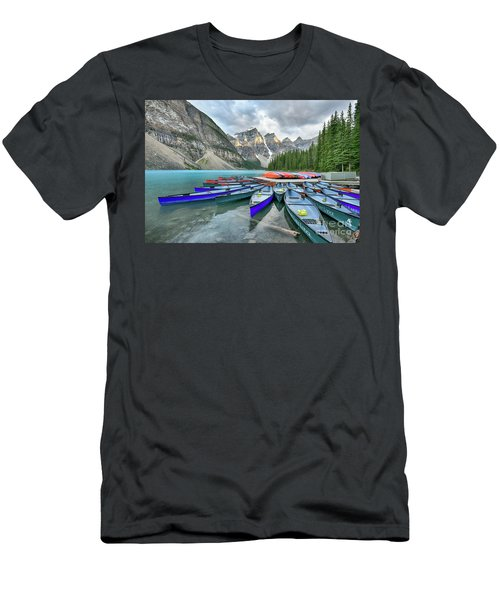 Sunset At Moraine Lake Men's T-Shirt (Athletic Fit)