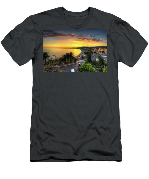 Men's T-Shirt (Slim Fit) featuring the photograph Sunset At Nice by Yhun Suarez