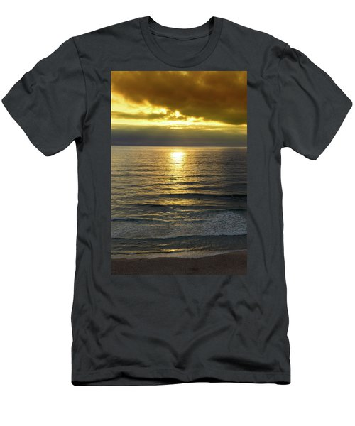 Sunset At Praia Pequena, Small Beach In Sintra Portugal Men's T-Shirt (Athletic Fit)