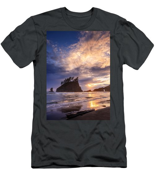 Men's T-Shirt (Slim Fit) featuring the photograph Sunset At Second Beach by Dan Mihai