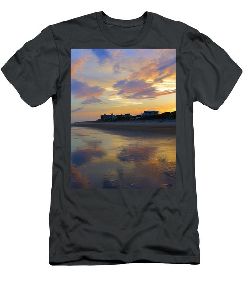 Sunset At The Beach Men's T-Shirt (Slim Fit) by Betty Buller Whitehead