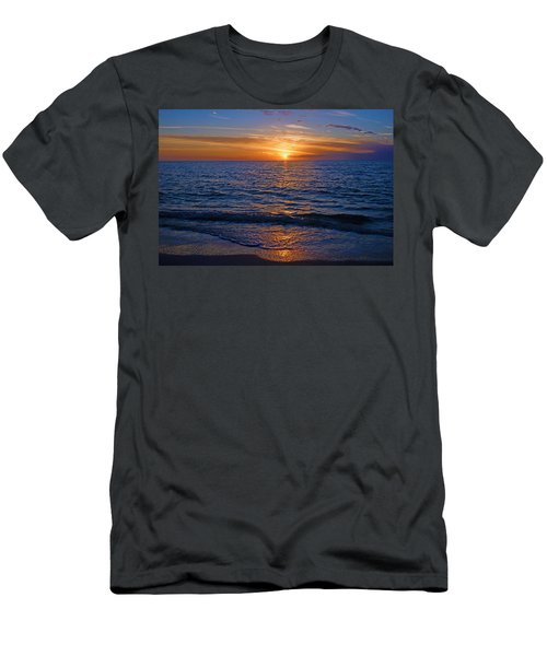Sunset At The Beach In Naples, Fl Men's T-Shirt (Athletic Fit)