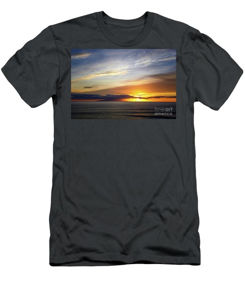 Sunset At The Canary Island La Palma Men's T-Shirt (Athletic Fit)