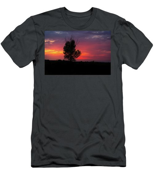 Sunset At The Danube Banks Men's T-Shirt (Athletic Fit)
