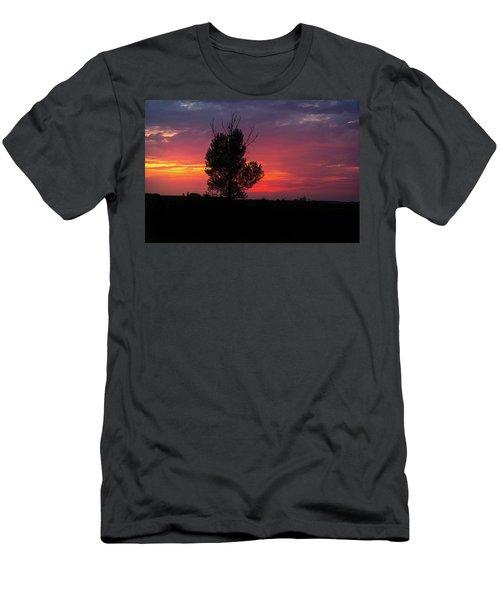 Sunset At The Danube Banks Men's T-Shirt (Athletic Fit)