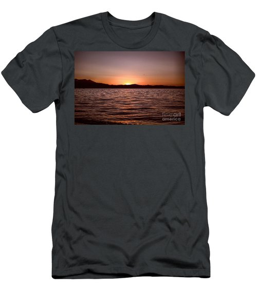 Sunset At The Lake 2 Men's T-Shirt (Athletic Fit)
