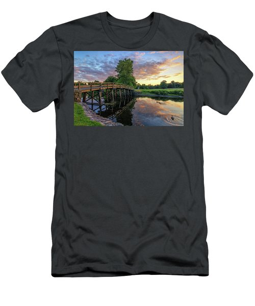 Sunset At The Old North Bridge Men's T-Shirt (Athletic Fit)