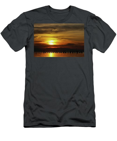 Sunset At Thessaloniki Men's T-Shirt (Athletic Fit)