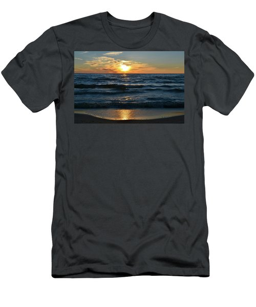 Sunset At Wasaga Beach June 21-2017  Men's T-Shirt (Athletic Fit)