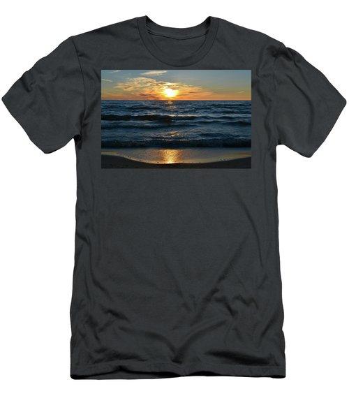 Sunset At Wasaga Beach June 21-2017  Men's T-Shirt (Athletic Fit)