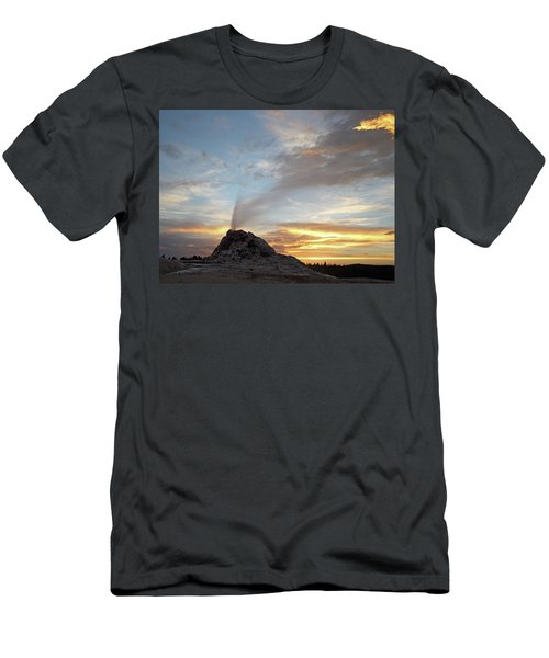 Sunset At White Dome Geyser Men's T-Shirt (Athletic Fit)
