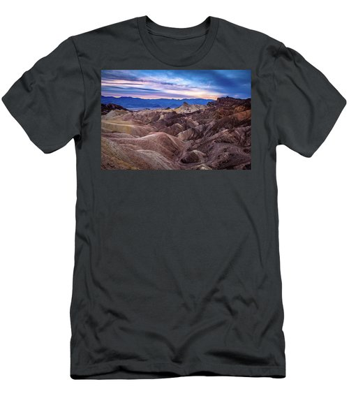 Sunset At Zabriskie Point In Death Valley National Park Men's T-Shirt (Athletic Fit)
