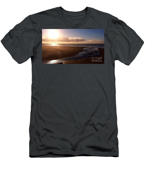 Sunset - Bastendorff Beach Men's T-Shirt (Athletic Fit)