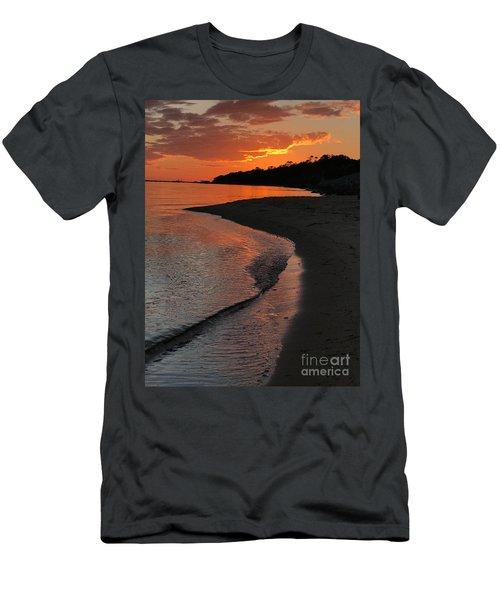 Sunset Bay Men's T-Shirt (Slim Fit) by Lori Mellen-Pagliaro