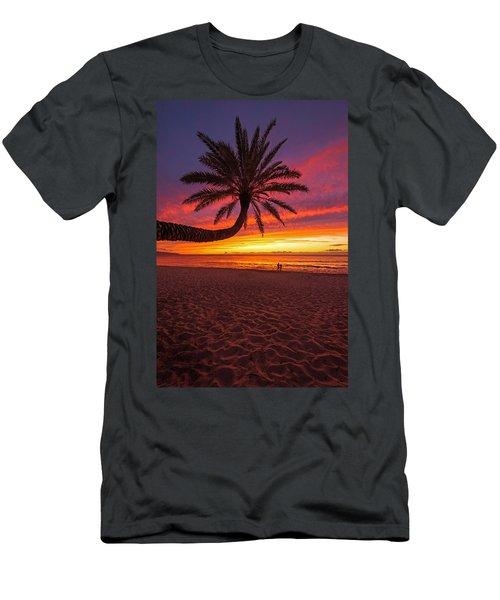 Sunset Beach Sunset Men's T-Shirt (Athletic Fit)