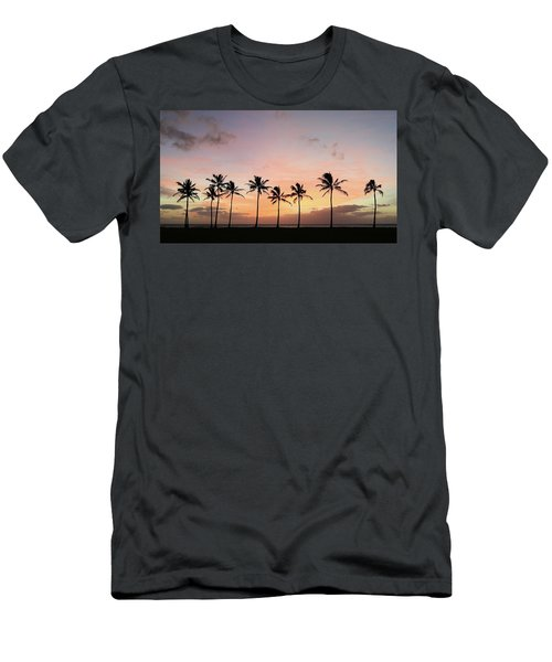 Sunset Behind The Palms Men's T-Shirt (Athletic Fit)