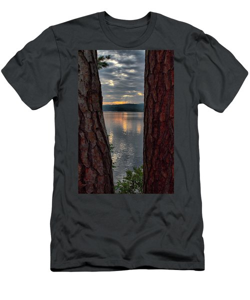 Men's T-Shirt (Athletic Fit) featuring the photograph Sunset Between Trees  by Betty Pauwels