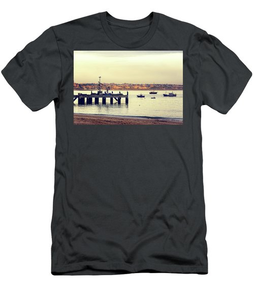 Men's T-Shirt (Slim Fit) featuring the photograph Sunset By The Sea by Marion McCristall
