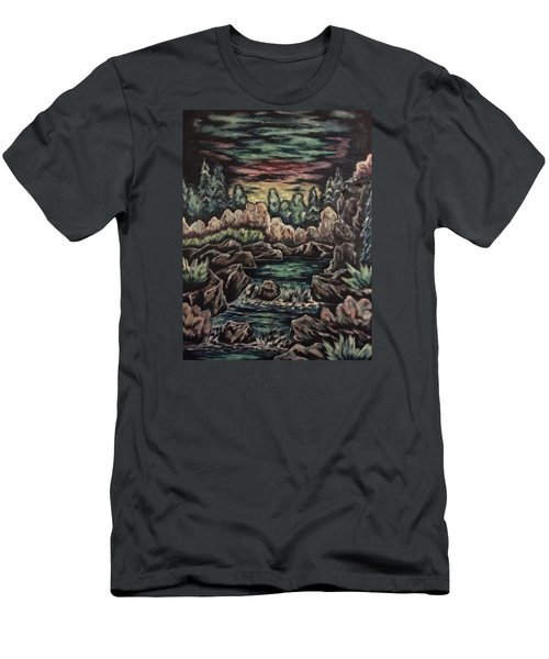 Sunset Men's T-Shirt (Slim Fit) by Cheryl Pettigrew