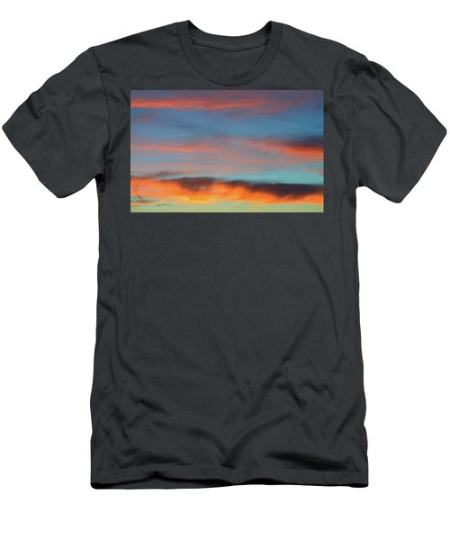 Sunset Clouds In Blue Sky  Men's T-Shirt (Slim Fit)