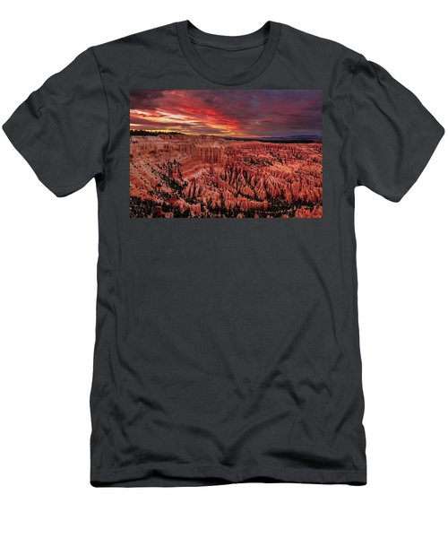 Men's T-Shirt (Athletic Fit) featuring the photograph Sunset Clouds Over Bryce Canyon by John Hight