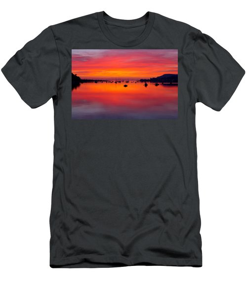 Sunset, Conwy Estuary Men's T-Shirt (Athletic Fit)