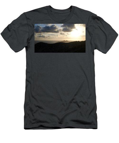 Sunset Dragon Island Men's T-Shirt (Athletic Fit)