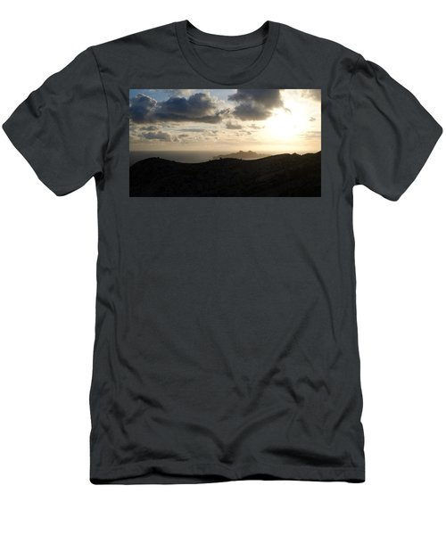 Sunset Dragon Island Men's T-Shirt (Athletic Fit)