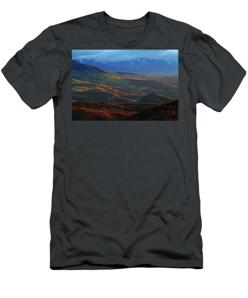 Men's T-Shirt (Slim Fit) featuring the photograph Sunset During Autumn Below The San Juan Mountains In Colorado by Jetson Nguyen
