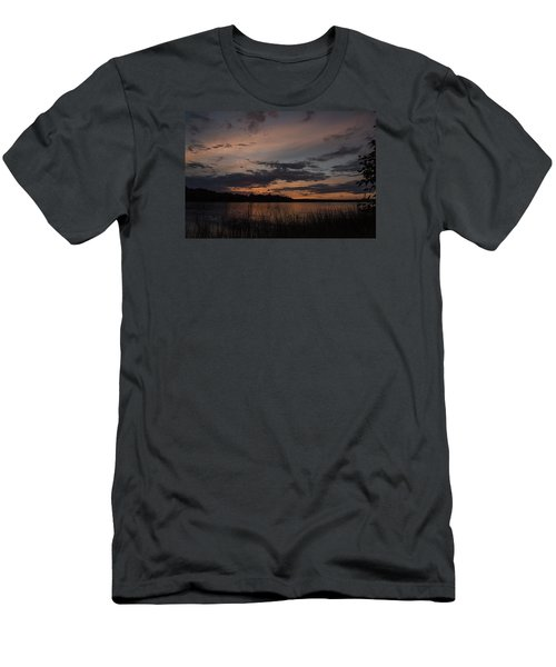 Sunset From Afternoon Beach Men's T-Shirt (Slim Fit) by Gary Eason