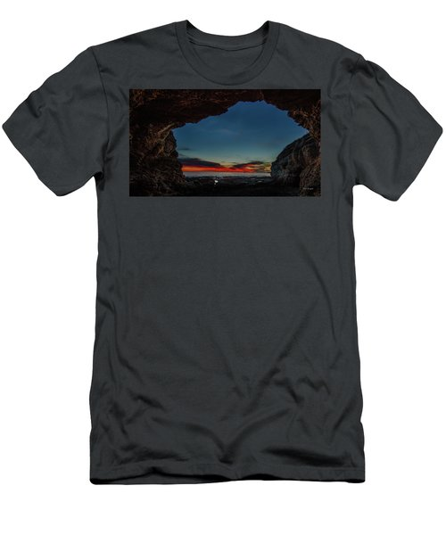 Sunset From Brady's Cave Men's T-Shirt (Athletic Fit)