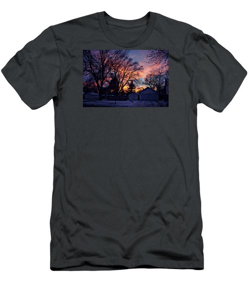 Sunset From My View Men's T-Shirt (Slim Fit) by Kathy M Krause