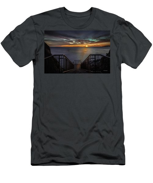 Sunset From Sandpiper Staircase Men's T-Shirt (Athletic Fit)