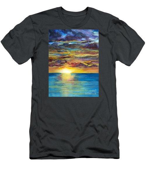 Sunset II Men's T-Shirt (Slim Fit) by Suzette Kallen