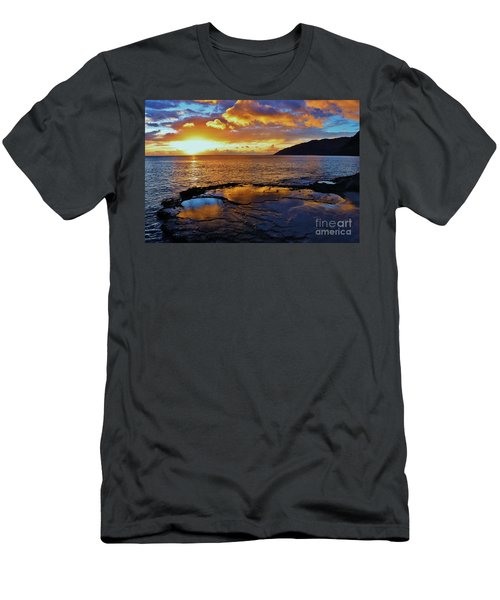 Sunset In A Tide Pool Men's T-Shirt (Athletic Fit)