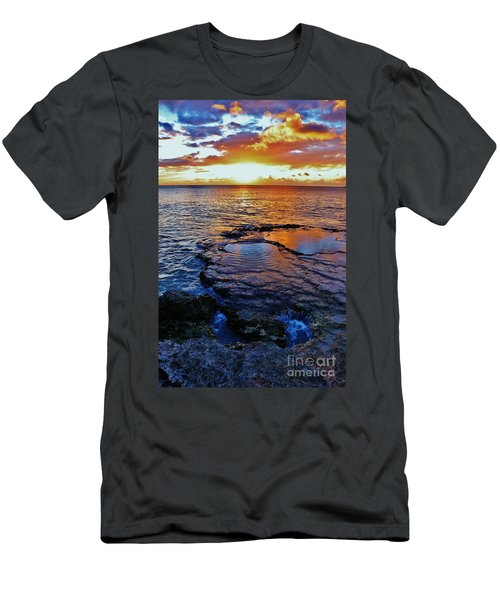 Sunset In A Tide Pool II Men's T-Shirt (Athletic Fit)