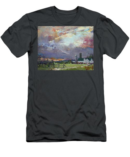 Sunset In A Troubled Weather Men's T-Shirt (Athletic Fit)